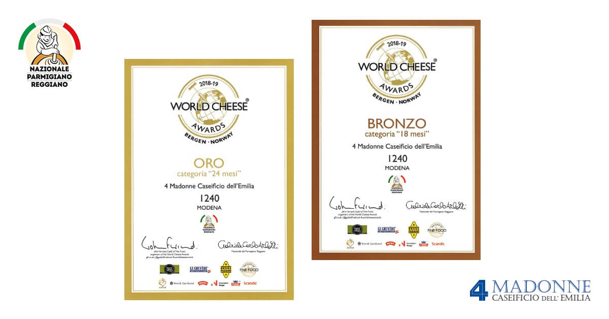 premi del Caseificio 4 Madonne al World Cheese Awards