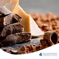 Golosità – Cubetti di Parmigiano Reggiano ricoperti di cioccolato