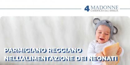 Il Parmigiano Reggiano nell'alimentazione dei neonati
